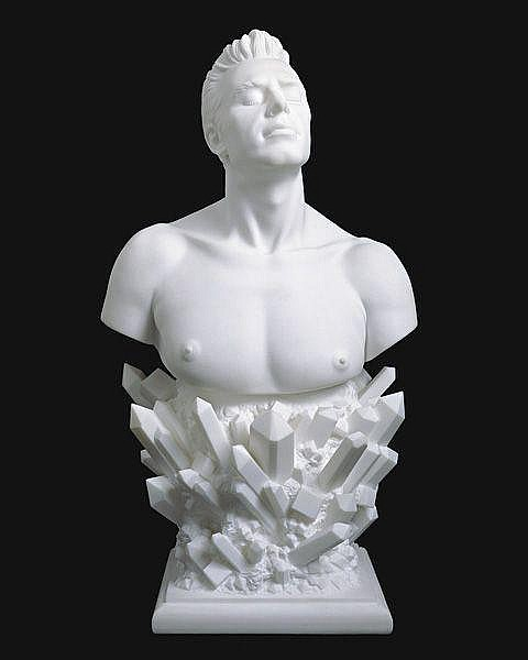 JEFF KOONS Self-Portrait, 1991 Marble. 37 1/2 x 20