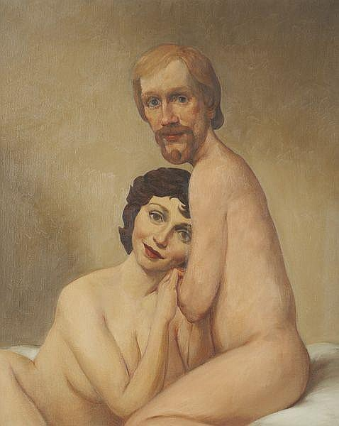 JOHN CURRIN Couple in Bed, 1993 Oil on canvas. 40
