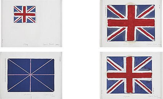 Four works: (i) Flag, (ii) Stretcher, (iii) Union Jack, (iv) Requiem, 1994