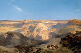 Property of the Thyssen-Bornemisza Collection THOMAS MORAN (1837-1926) Badlands of the Dakota,