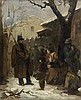 Isidore Alexandre Augustin PILS (Paris 1813 - Douarnenez 1875) La distribution des vivres à Paris Toile 42 x 35 cm Signé et daté en ...