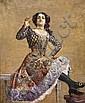 Norbert GOENEUTTE (1854-1894) Portrait présumé de Caroline Ortega, dite