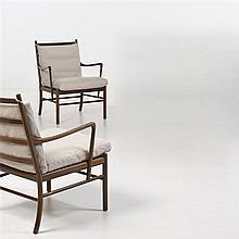 Ole Wanscher (1903-1985)Modèle no. 149Paire de fauteuilsPalissandre et tissuÉdition P. JeppesenDate de création : 1949H 83,5 × L 64 ...