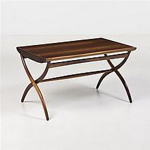 Ole Wanscher (1903-1985)Table basse ajustablePalissandre et laitonÉdition Rud RasmussenDate de création : vers 1951H 60-70 × L 105 ×...