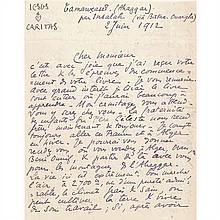 Manuscrits et letters autographes