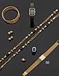 OMEGA Montre bracelet de dame, en or jaune, la monture de forme rectangulaire, le cadran émaillé blanc à index bâtonnets. Le mouvement