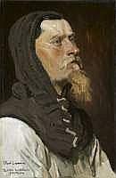 Jean-Paul LAURENS - Étude d'un chevalier
