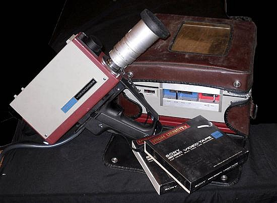 CAMÉRA Vidéo et magnétoscope portatif VIDEOCORDER SONY AVC-3420CE, années 1970