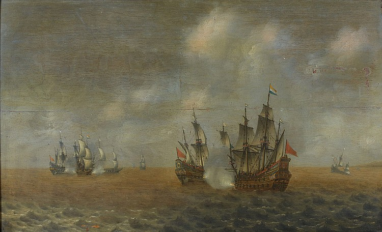 Attribué à Willem van DIEST (avant 1610-1673) Marine