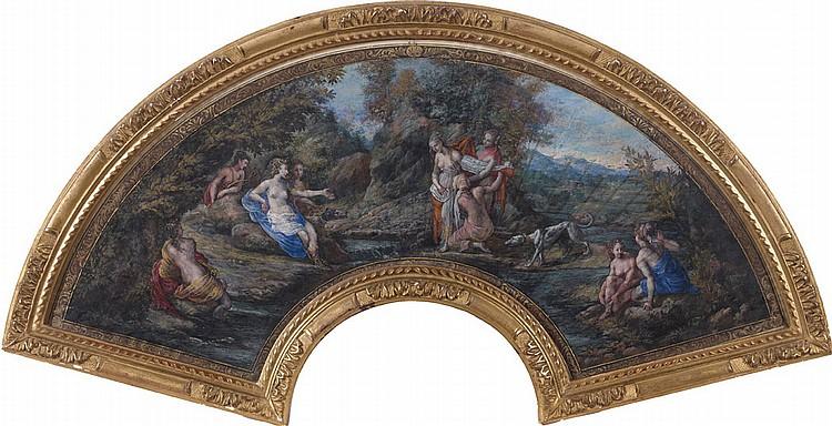 École FRANÇAISE vers 1680 Diane découvrant la grossesse de Callisto