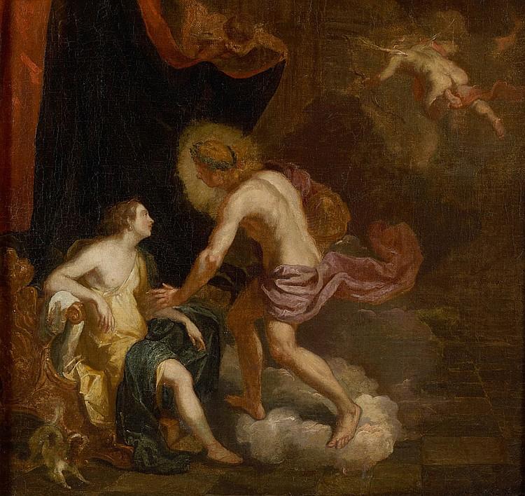 Abraham HONDIUS (Rotterdam 1631-Londres 1691) Apollon et Leucothoe