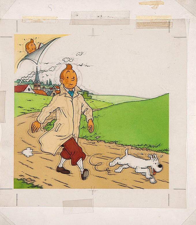 Tintin à la campagne.