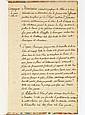 ALLEMAGNE. MANUSCRIT signé par le chevalier de CAMPAGNOL, Campagne de 1743. Itinéraire général des passages du Rhin et de leurs debo...
