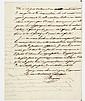 Thomas BUGEAUD (1784-1849) maréchal. L.A.S., Alger 1er avril 1843, à un collègue ; 2 pages in-4, en-tête Gouvernement général de l'A..