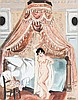 Yves BRAYER (1907-1990) Nu au baldaquin, Cordes Aquarelle gouachée sur papier signé, situé et daté 1940 en bas à droite 65 × 49,5 cm...
