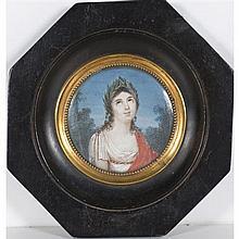 École FRANÇAISE du XIXe siècle Portrait de Mademoiselle George