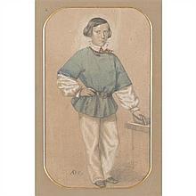 École du XIXe siècle Portrait présumé de Jean-François-Maurice-Arnauld, Baron Dudevant, dit Maurice Sand, jeune homme