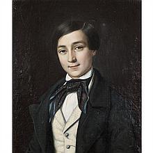 Jean baptiste BONJOUR (1801-1882) Portrait de George Sand à 17 ans