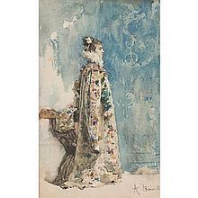 A.SIMONETTI Portrait de Sarah Bernhardt dans la pièce de Théâtre Ruy Blas de Victor Hugo