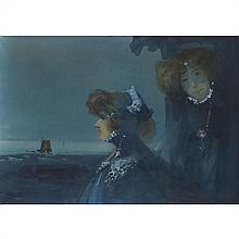 Jacques SUPPARO (Marseille 1870- ? 1913) Double Portrait de Sarah Bernhardt et Louise