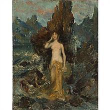 École du XIXe siècle Portrait imaginaire de Sarah Bernhardt à Belle-île en mer