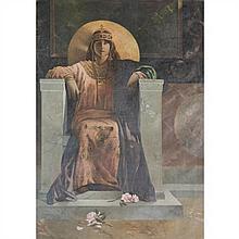 L.CARTEYRAC (XIXe-XXe) Sarah Bernhardt dans le rôle de l'impératrice Théodora