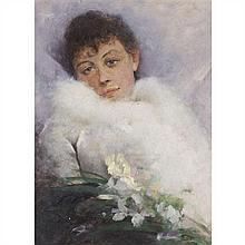 École MODERNE Portrait de Sarah Bernhardt