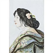 Attribué à Marie BESSON (actif au XIXe siècle) Portrait de La Belle Otero