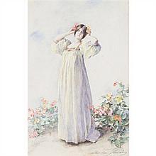 Madeleine LEMAIRE (Arcs 1845-Paris 1928) Portrait de Cléo de Merode
