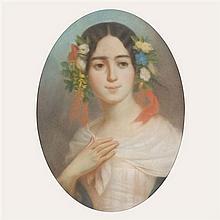 École du XIXe siècle Portrait de la danseuse étoile Fanny Cerrito (1817-1909)