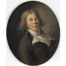École Française du XVIIIe siècle, vers 1790 Portrait présumé du célèbre acteur Dugazon