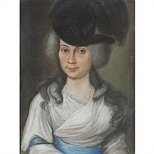 École FRANÇAISE du XVIIIe siècle Portrait présumé de Mademoiselle Dugazon