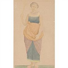 Savinien PETIT (1815-1878) Portraits de Mademoiselle George dans le rôle d'Esther et de Mademoiselle Mars