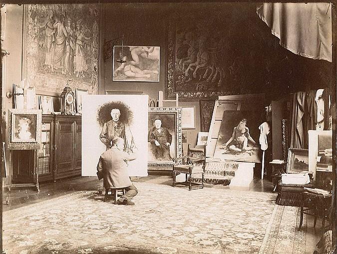 Edmond BÉNARD (1838-1907) Léon Bonnat (1833-1922) - peintre, années 1880-1900