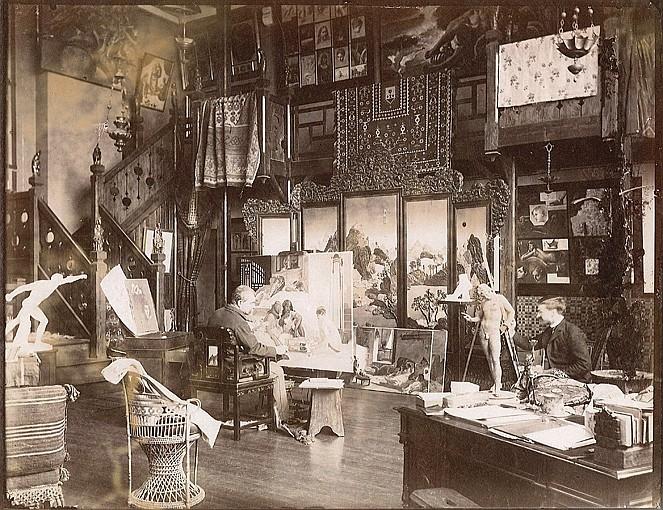 Edmond BÉNARD (1838-1907) Jean-Jules-Antoine Lecomte du Nouÿ (1842-1923) - peintre orientaliste, années 1880-1900