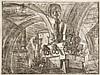 Giambattista Piranesi (1720-1778) Le Môle au lampadaire. (Carceri, pl. XV). Eau-forte. 548 x 410. Hind 15 ; Robison 41. Très belle é...