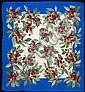 HERMES Paris made in France Carré en soie imprimée à décor de cerises. ( décoloration )