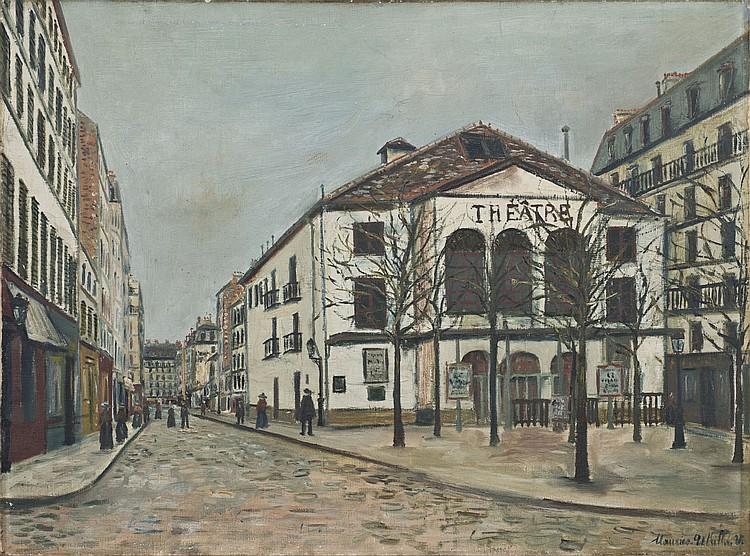Maurice UTRILLO (1883-1955) Le Théâtre de l'Atelier à Montmartre, c