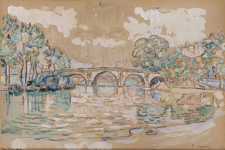 Paul SIGNAC (1863-1935) Le Pont Marie, juin 1910