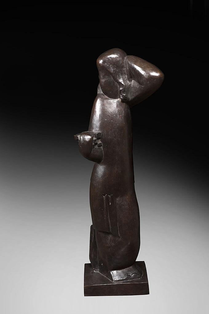 Joseph CSAKY (1888-1971) Le Panier sur le bras, 1928
