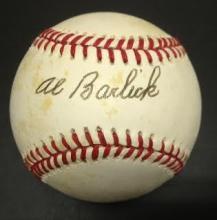 Al Barlick Signed William White Baseball