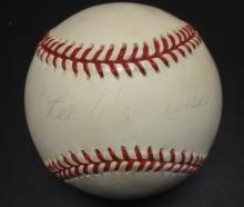 Pee Wee Reese Signed William White Baseball