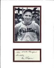 Ben Chapman Cut Signature Matted with a Photograph Certified by JSA James Spence Authentication