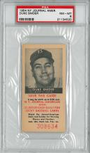 1954 NY Journal American DUKE SNIDER Certified by PSA Grade 8 Very Rare