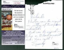 Spanky McFarland Signed Letter Certified by JSA James Spence Authentication