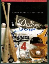 Joe DiMaggio Signed 17th National Sports Collectors Convention Magazine Certified by Jim Stinson