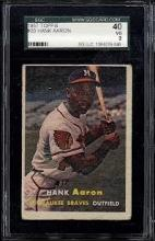 1957 Topps Hank Aaron Card #20 SGC 3 (40 Very Good)