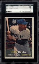 1957 Topps #55 Ernie Banks Card SGC 5 (60 Excellent)