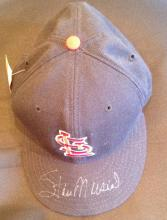 Stan Musial Signed New Era Baseball Hat Certified by JSA J63647