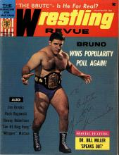 Bruno Sammartino Signed Magazine From 1968 Certified by JSA James Spence Authentication